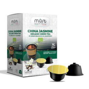 Tè nero in foglie al gelsomino China Jasmine Must - in 16 capsule compatibili Dolce Gusto
