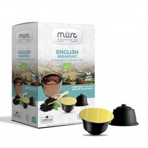 Tè nero in foglie English Breakfast Must - in 16 capsule compatibili Dolce Gusto