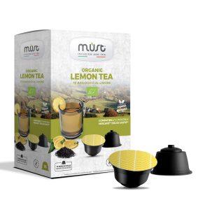Tè nero in foglie al Limone Must - in 16 capsule compatibili Dolce Gusto