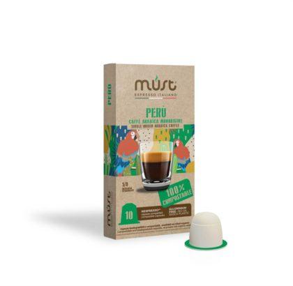 Caffè monorigine Perù, capsule compostabili, Must Espresso Italiano